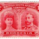 (I.B) Rhodesia/BSAC Postal : Double Head 1d