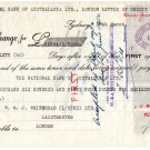(I.B) George V Revenue : Foreign Bill £28 7/- (+ Western Australia £70 8/-)
