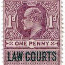 (I.B) Edward VII Revenue : Law Courts (Scotland) 1d