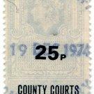 (I.B) Elizabeth II Revenue : County Courts (Northern Ireland) 25p