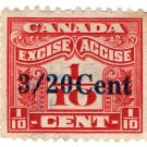(I.B) Canada Revenue : Excise Duty 3/20c on 1/10c OP