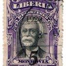 (I.B) Liberia Postal : 5c on 10c Black & Purple OP