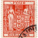 (I.B) New Zealand Revenue : Stamp Duty 4/- (postal)