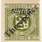 (I.B) Lancashire & Yorkshire Railway : Letter Stamp 3d on 2d OP