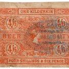 (I.B) Australia - Tasmania Revenue : Beer Duty 4/6d (The Casade Brewery)