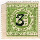 (I.B) Glasgow, Barrhead & Kilmarnock Joint Railway : Letter 3d on 2d OP