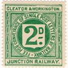 (I.B) Cleator & Workington Junction Railway : Letter Stamp 2d
