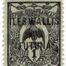 (I.B) France Colonial Postal : Wallis & Futuna Overprint 1c (New Caledonia)