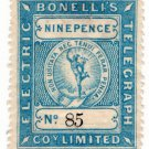 (I.B) Bonelli's Electric Telegraph Company 9d