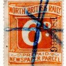 (I.B) North British Railway : Newspaper Parcel 6d