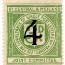 (I.B) Great Central & Midland Joint Committee Railway : Letter 4d on 3d OP