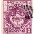 (I.B) British North Borneo Postal : $5 Bright Purple (imperforate)