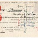 (I.B) George VI Revenue : Foreign Bill £4 5/- (+ Australia NSW £10 9/6d Duty)