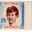 (I.B) Cinderella Collection : National Savings - Prince Charles 2/6d (1954)