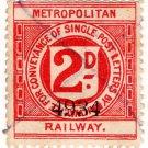 (I.B) Metropolitan Railway : Letter Stamp 2d
