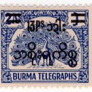 (I.B) Burma Telegraphs : New Currency Surcharge 13p on 2a OP