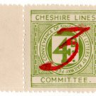 (I.B) Cheshire Lines Committee Railway : Letter Stamp 3d on 4d