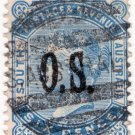 (I.B) Australia - South Australia Postal : 6d OS overprint