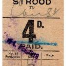 (I.B) South Eastern & Chatham Railway : Prepaid Parcel 4d (Strood)