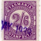 (I.B) Australia - Tasmania Revenue : Stamp Duty 2/6d (1931)