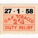 (I.B) Elizabeth II Revenue : Tobacco Duty Relief 2/4d