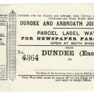 (I.B) Dundee & Arbroath Joint Railway : Newspaper Way-Bill 2d (Special Contract)