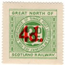 (I.B) Great North of Scotland Railway : Letter Stamp 4d on 3d OP