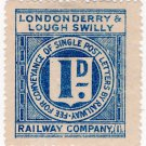(I.B) Londonderry & Lough Swilly Railway : Letter Stamp 1d