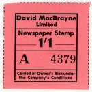 (I.B) Cinderella Collection : David MacBrayne Motor Services - Newspapers 1/1d