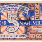 (I.B) South Africa Revenue : Petrol Ration 5 Gallons (1946)