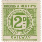 (I.B) Brecon & Merthyr Railway : Letter Stamp 2d
