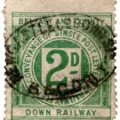 (I.B) Belfast & County Down Railway : Letter Stamp 2d (Newcastle)