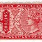(I.B) Ceylon Revenue : Warehouse Warrant 1/-