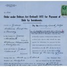 (I.B) George V Revenue : County Courts Northern Ireland 2/6d (complete document)