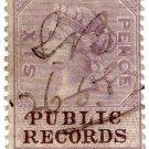 (I.B) QV Revenue : Public Records 6d (1873)