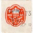 (I.B) Edward VII Revenue : Customs Duty 1/3d (1901)