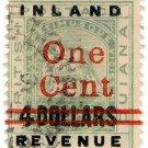 (I.B) British Guiana Revenue : Inland Revenue 1c on $4 OP