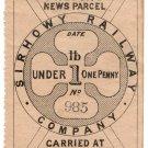 (I.B) Sirhowy Railway : Newspaper Parcel 1d