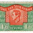 (I.B) South Africa Revenue : Duty Stamp 1/6d (language error)