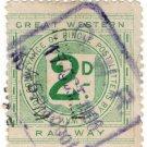(I.B) Great Western Railway : Letter Stamp 2d (Newton Abott)