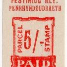(I.B) Festiniog Railway : Parcel 5/- (Penrhyndeudraeth)