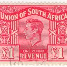 (I.B) South Africa Revenue : Duty Stamp £1 (1948)
