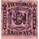 (I.B) Australia - Victoria Railways : Parcels 6d (inverted watermark)