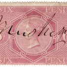 (I.B) QV Revenue : Inland Revenue 6d Reddish Lilac (SG F11)