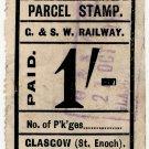 (I.B) Glasgow & South Western Railway : Parcel 1/- (St Enoch)