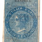 (I.B) New Zealand Revenue : Stamp Duty 8d (inverted watermark)