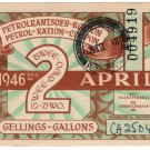 (I.B) South Africa Revenue : Petrol Ration 2 Gallons (1946)