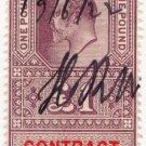 (I.B) Edward VII Revenue : Contract Note £1