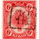 (I.B) Malaya States Revenue : Kedah (Japanese Occupation) 6c OP inverted