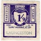(I.B) Australia - Tasmania Railways : Parcels 1/9d (Launceston)